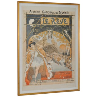 """Le Rêve"" French Ballet Poster by Steinlen"
