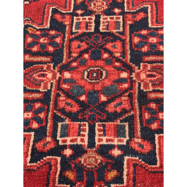 "Vintage Persian Zanjan Short Runner - 2'9"" x 6' - Image 5 of 10"