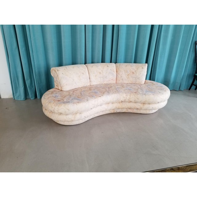 Adrian Pearsall for Comfort Designs Curved Kidney Shaped Sofa - Image 4 of 4