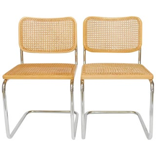 Gavina for Knoll Marcel Breuer Cesca Chairs - a Pair
