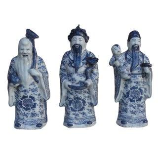 Chinese Handmade Blue & White Porcelain - Set of 3