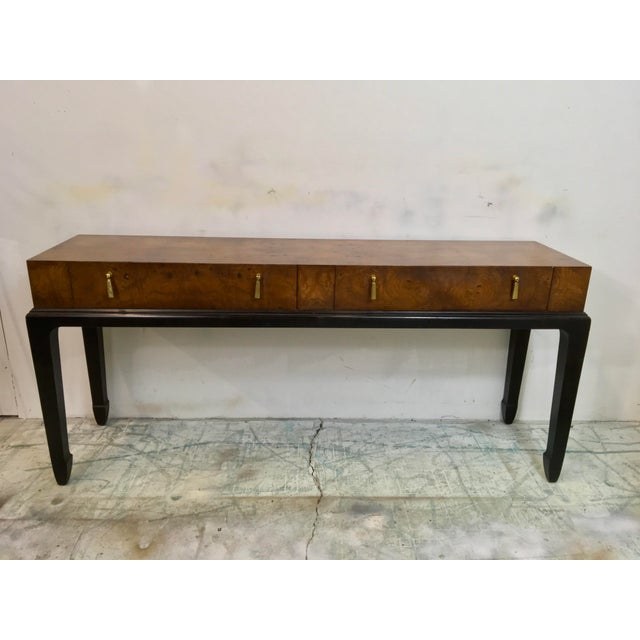 Burlwood asian style console table chairish