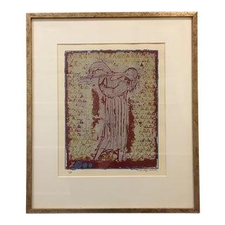 Shraga Weil Original Signed Artist Proof: Flutist Serigraph Print