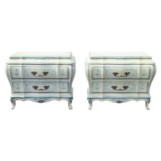 Karges Paint Bombe Commodes - A Pair