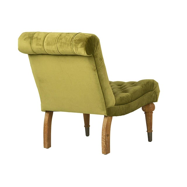 Image of Olive Tufted Velvet Chair