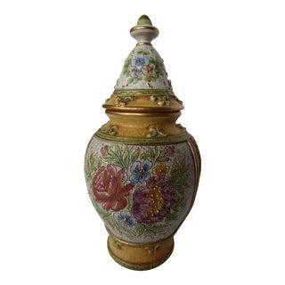 Deruta Majolica Italian Covered Vase