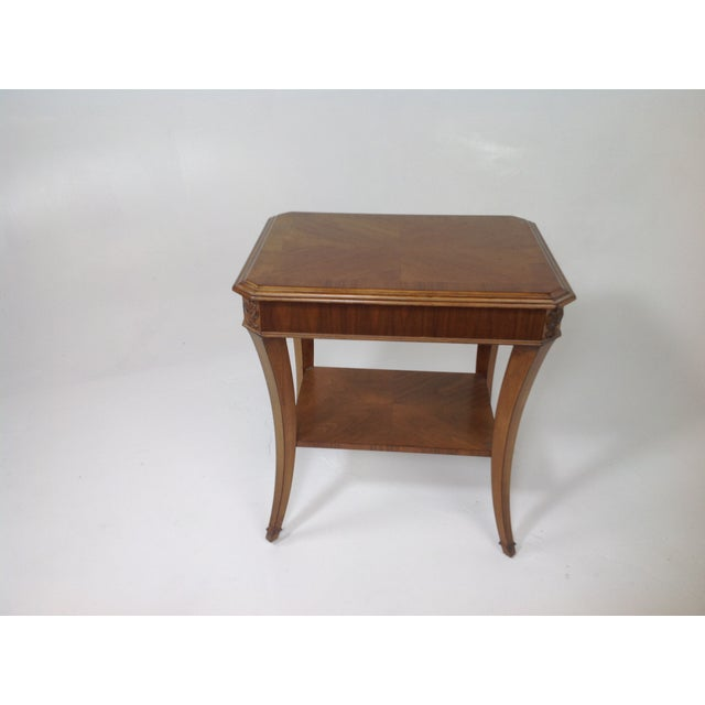 Modern Walnut End Table - Image 2 of 5