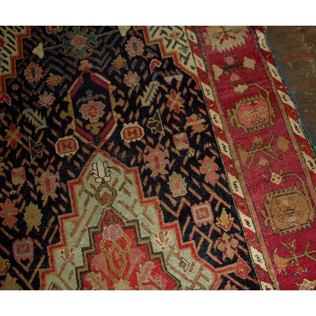 1880s Antique Hand Made Caucasian Karabagh Rug- 4′6″ × 11′7″ - Image 8 of 10