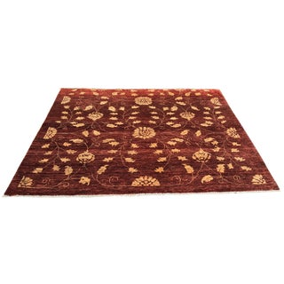 "Contemporary Turkish Oushak Rug - 5'5"" x 6'"