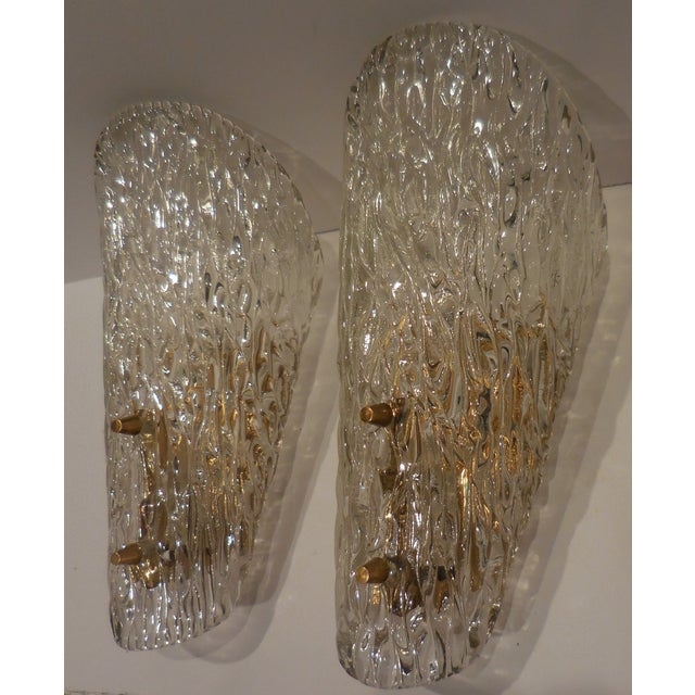 Vintage Textured Glass Sconces - Pair - Image 3 of 11