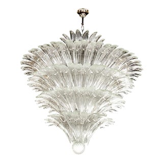Exquisite Five-Tier Palma Murano Glass Chandelier