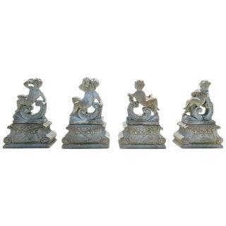 Large-Scale Louis XV Style Concrete Garden Sculptures of the Four Seasons