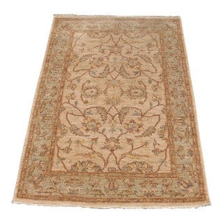Traditional Hand Knotted Area Rug - 4′2″ × 6′4″