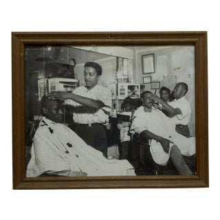 "Original Framed Black & White Photograph ""The Barbershop"" by Teenie Harris"