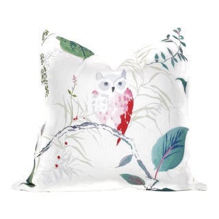 "Owlish White Pillow Cover - 20"" x 20"""