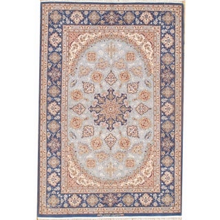 Pasargad Isfahan Hand-Knotted Rug - 4′6″ × 6′8″