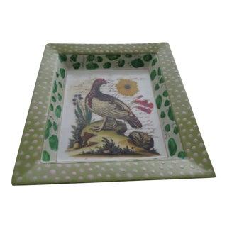 John Derian New York Porcelain Pheasant Desk Tray