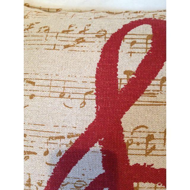 Custom Music Clef Pillow - Image 3 of 5