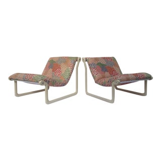1970s Knoll Sling Lounge Chairs by Hannah & Morrison - A Pair
