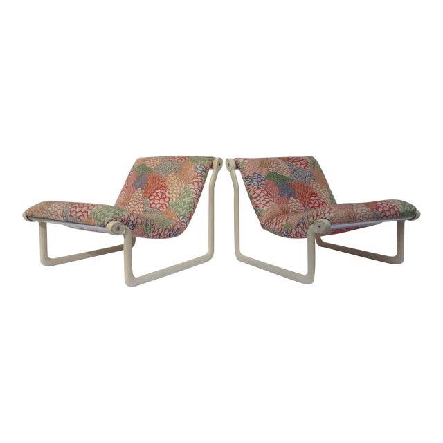 Image of 1970s Knoll Sling Lounge Chairs by Hannah & Morrison - A Pair