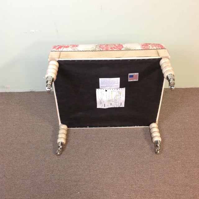 Lillian August Tufted Upholstered Floral Ottoman - Image 3 of 7