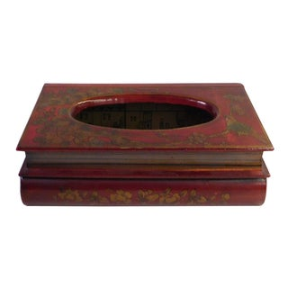 Chinese Red Rectangular Tissue Box Cover