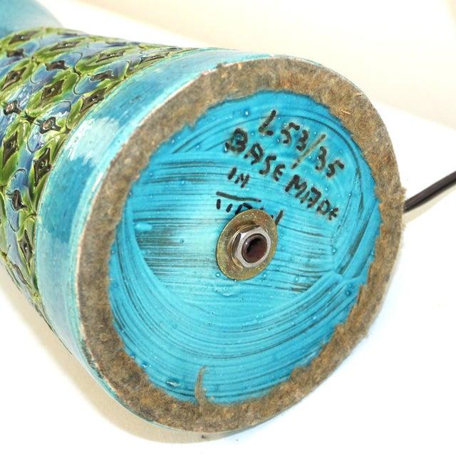 Bitossi Raymor Rimini Blue Pottery Lamp - Image 4 of 7