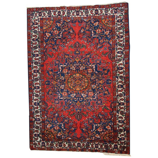 1970s Hand Made Vintage Persian Mashad Rug - 4′7″ × 6′4″ - Image 1 of 10