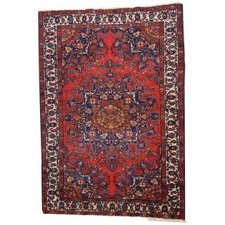 1970s Hand Made Vintage Persian Mashad Rug - 4′7″ × 6′4″