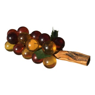 Vintage Mid-Century Lucite Grape Cluster