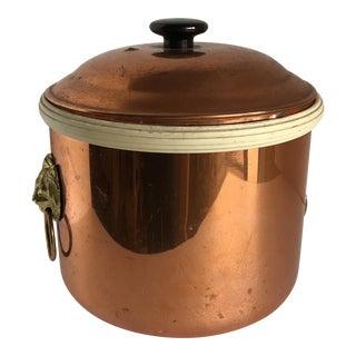 Vintage Copper Lion Head Ice Bucket