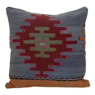 Antique Turkish Kilim Rug Pillow