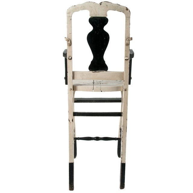 Vintage Painted Wood High Chair - Image 4 of 4