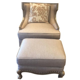 Bergere Chair With Ottoman