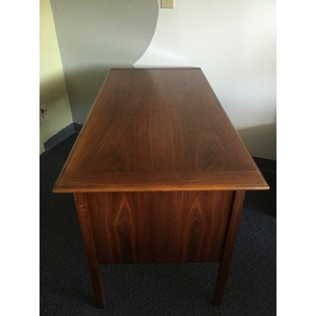 Mid-Century Modern Wooden Desk - Image 4 of 7