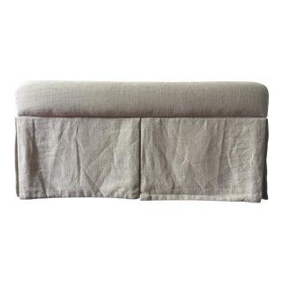 Linen Upholstered Storage Bench