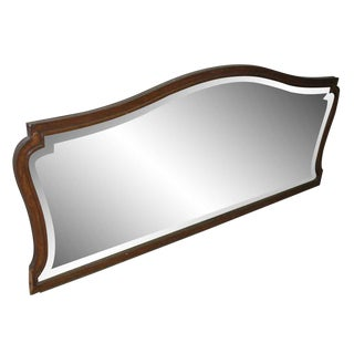 Vintage Wood Framed Beveled Mirror