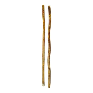 Primitive Handmade Walking Sticks - Set of 2