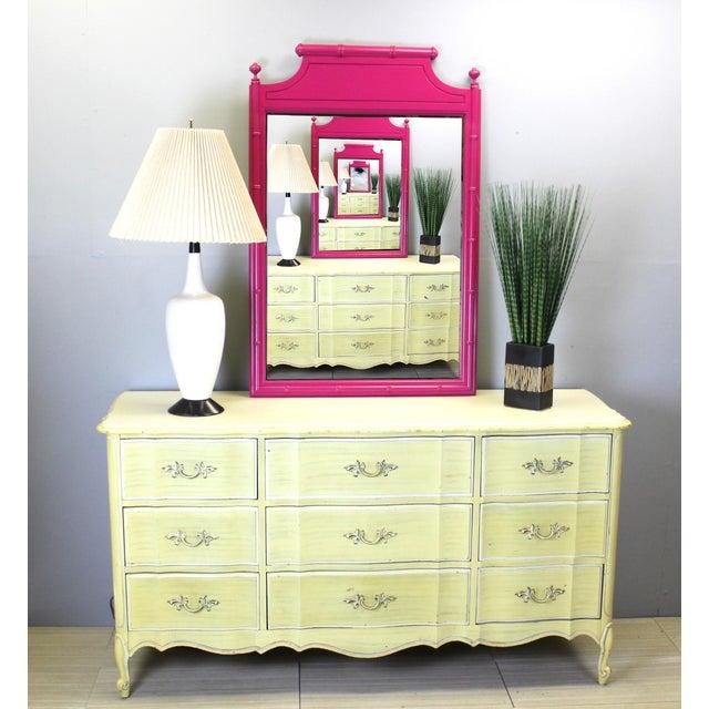 Mid Century Canary Yellow Dresser - Image 3 of 4
