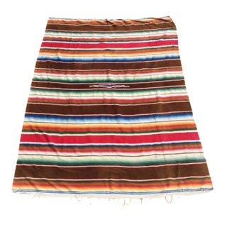 Vintage Serape Wool Throw