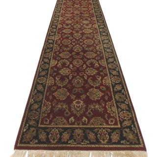 RugsinDallas Persian Style Wool Runner Rug - 2′6″ × 15′10″