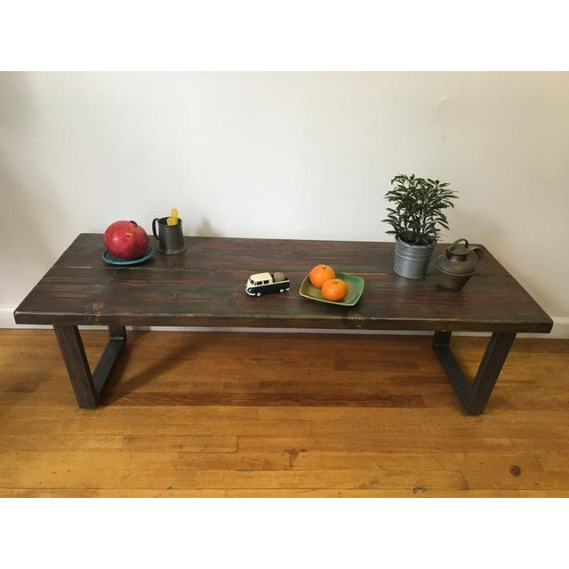 Industrial Coffee Table With Tube Legs