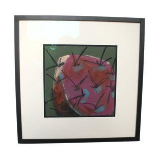 Original Mixed Media Art - Purple Cactus