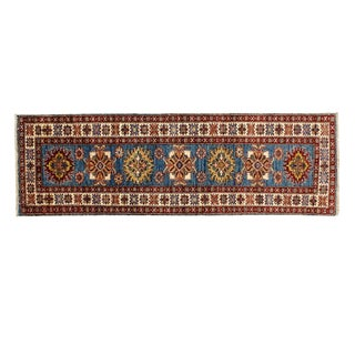 "Leon Banilivi Royal Blue Super Kazak Runner - 1'10"" X 5'9"""