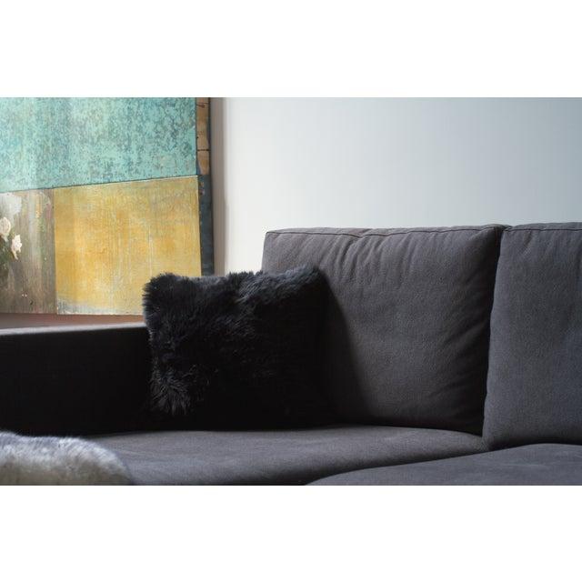 Black Sheepskin Pillow - Image 3 of 3