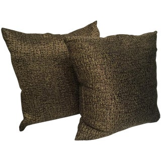 Black and Gold Custom Pillows - A Pair