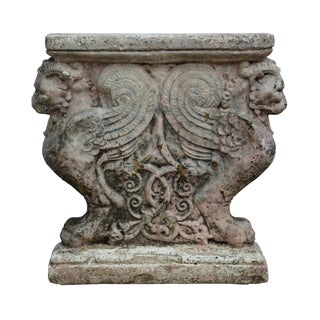 Antique Italian Plaster Architectural Fragment