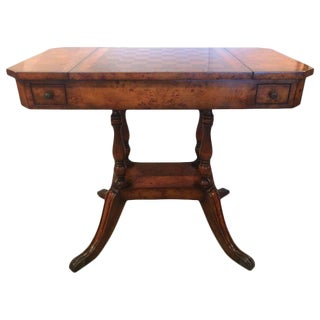 Burl Wood Game Table