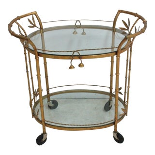 French Regency Faux Bamboo End Table
