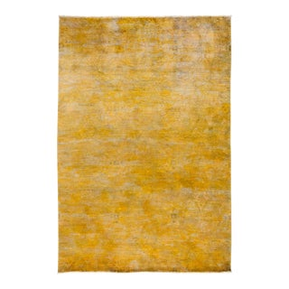 "Over-Dyed Hand Knotted Area Rug - 6'1"" X 8'10"""